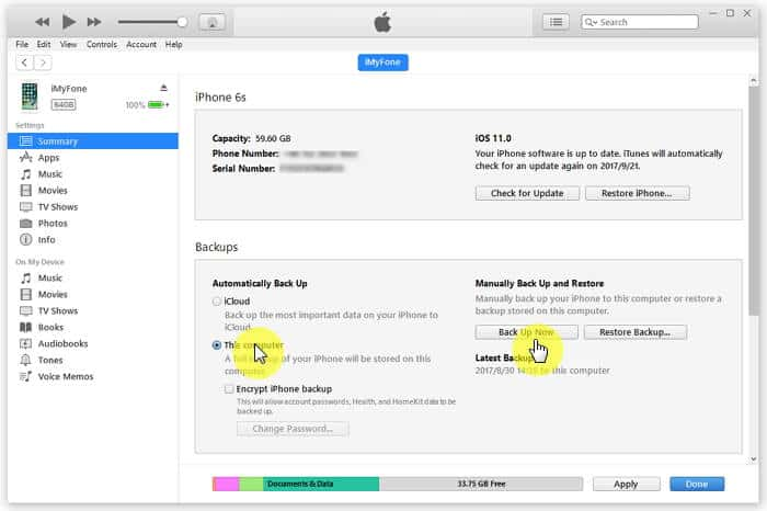How to Backup WhatsApp Contacts with iTunes