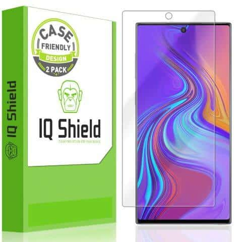 best screen protector for note 10 - IQShield Clear Film