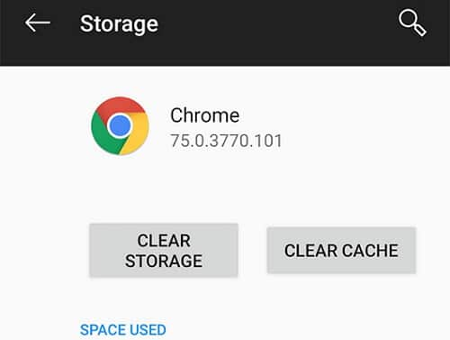 Clear files on Chrome