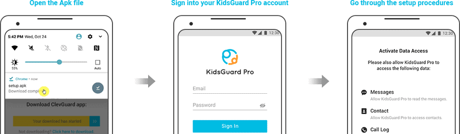 Snapchat Hack Android app - KidsGuard Pro