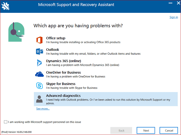 Solve 0x80040154 Error Using Microsoft Support and Recovery Assistant Utility
