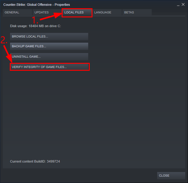 Check the game files for any embedded error to fix Steam Disk Write Error