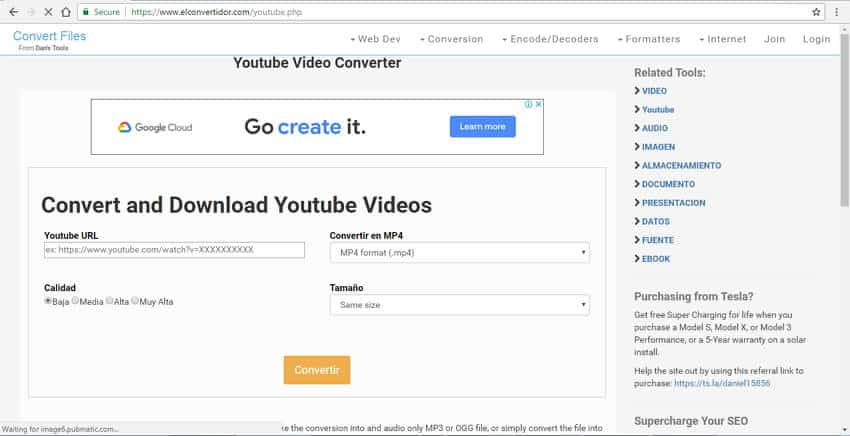 YouTube to MOV converter from Dan's tools