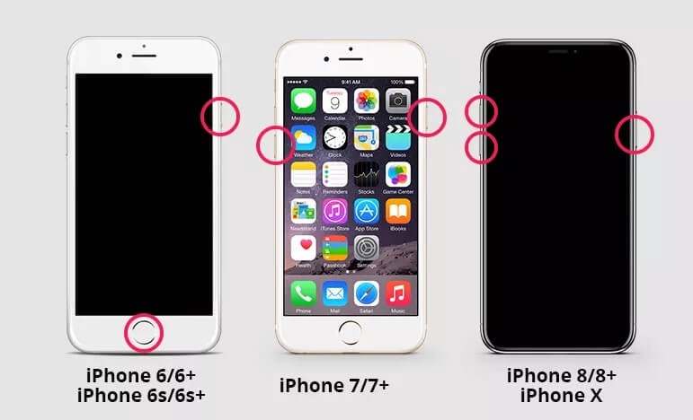 Perform a hard reset on the iPhone