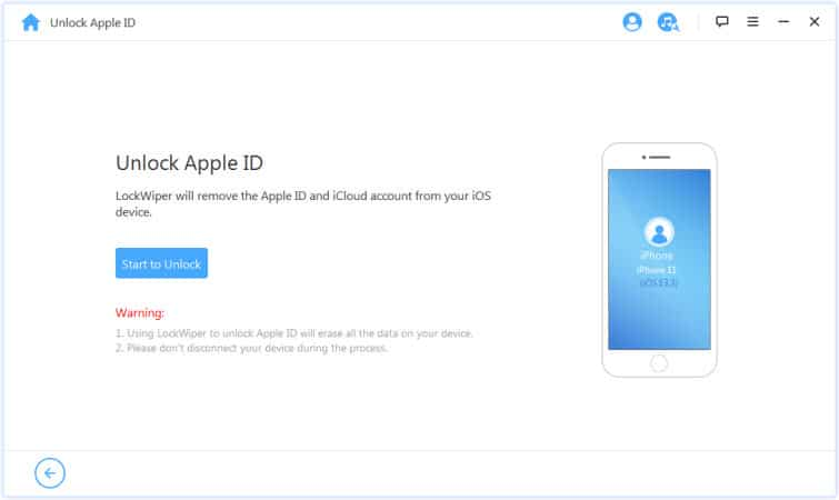 Removing previous iCloud account on your iOS device through LockWiper