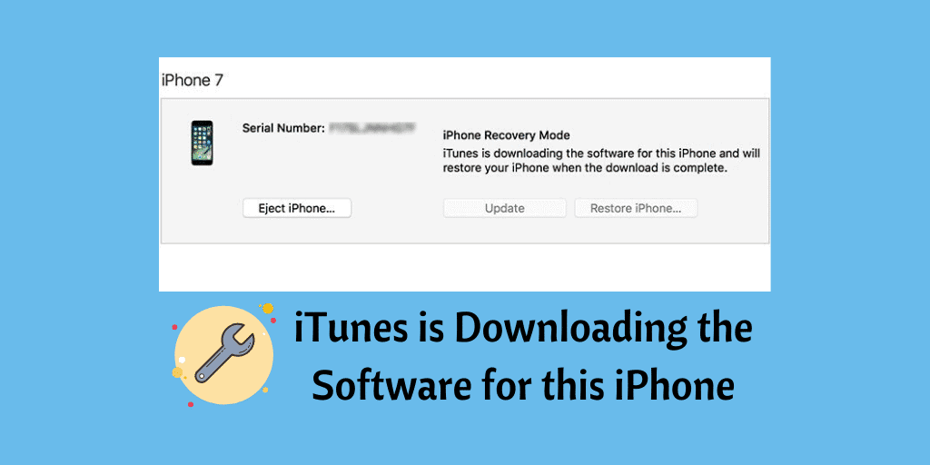 iTunes is Downloading the Software for this iPhone