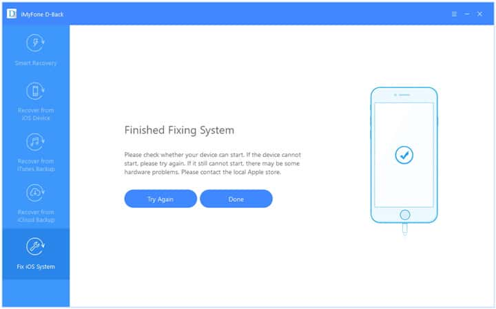 Fix iPhone Network Not Available Using iMyFone D-Back