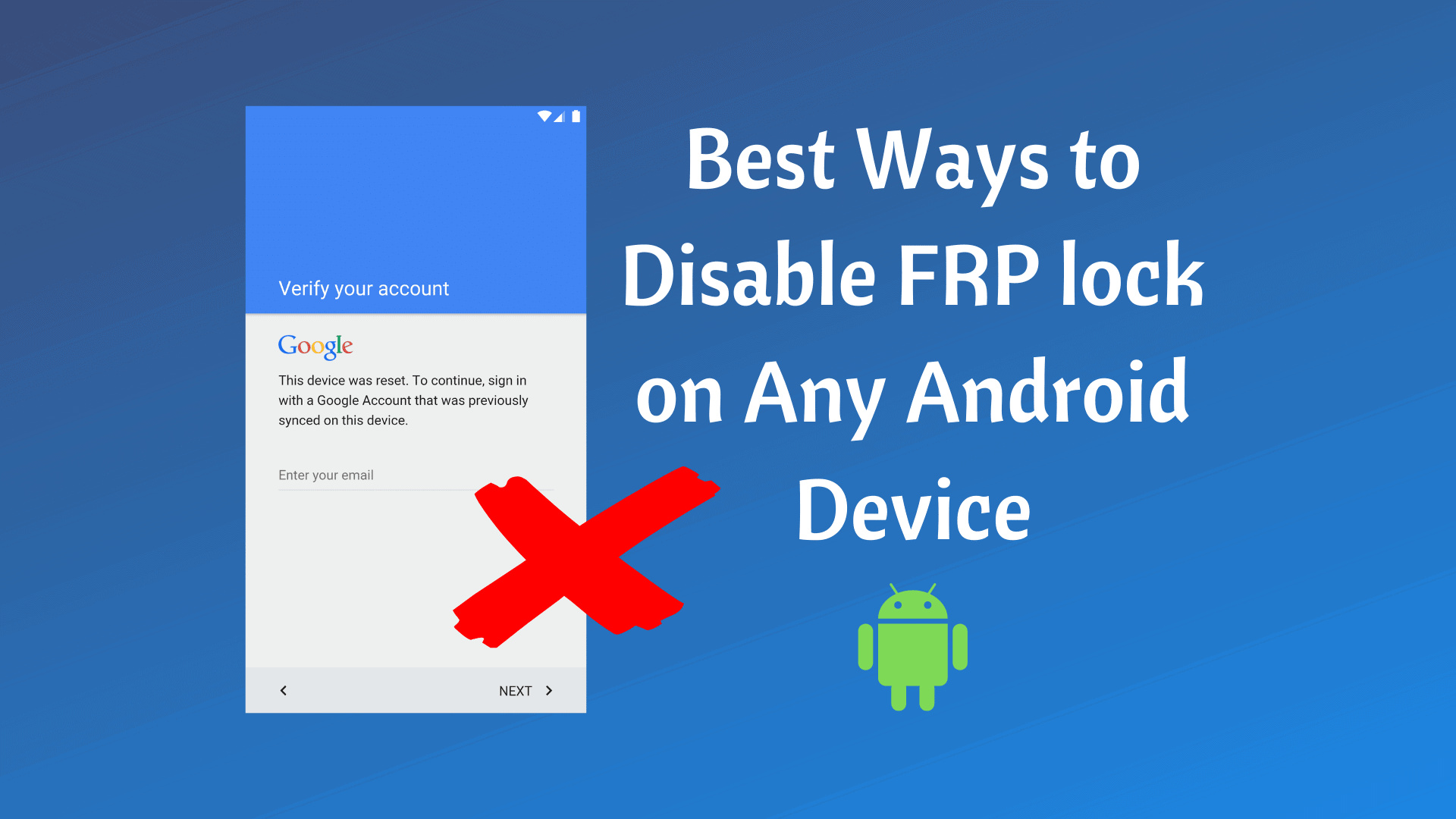 Disable FRP Lock
