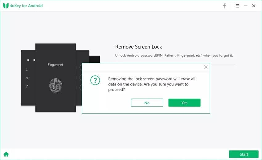 Unlock Samsung S10 Without Password with 4uKey for Android