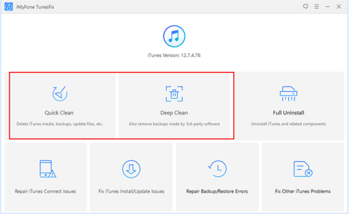 Fix iTunes Sync Session Failed to Start Using iMyFone TunesFix