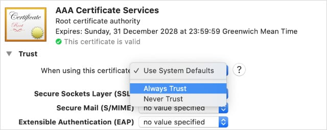 """Do you see """"The certificate for this server is invalid"""" error on a Mac?"""