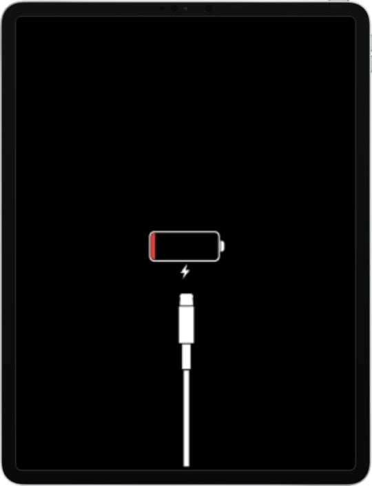 How to determine if the respective iPad Pro is charging or not