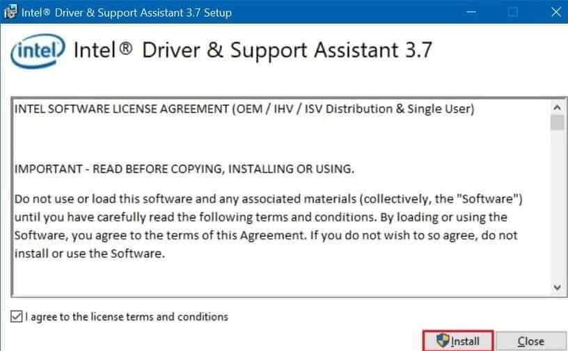 Re-install Intel Graphic Driver to fix System Thread Exception Not Handled error