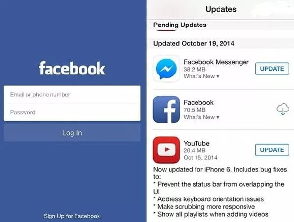 Update the App/Browser or reinstall it to fix Facebook Videos Won't Play on Android