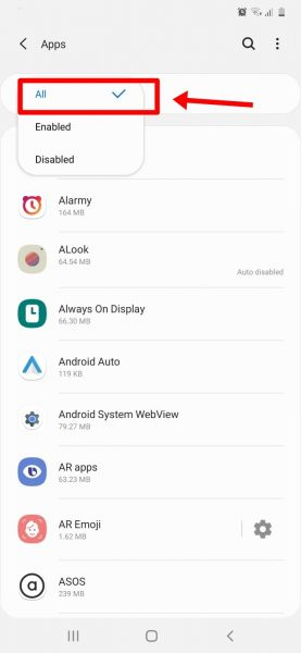 Check Android Settings