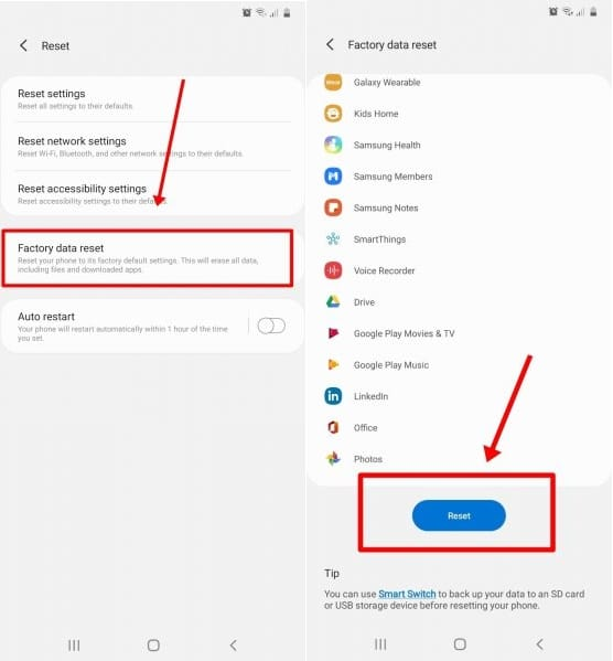 Reset Settings on Android