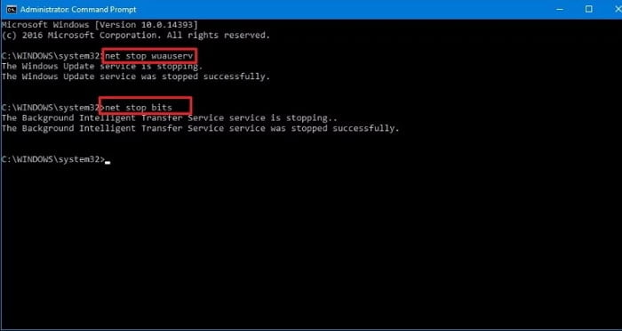 Restart the Windows Update Services to Eradicate the Issue