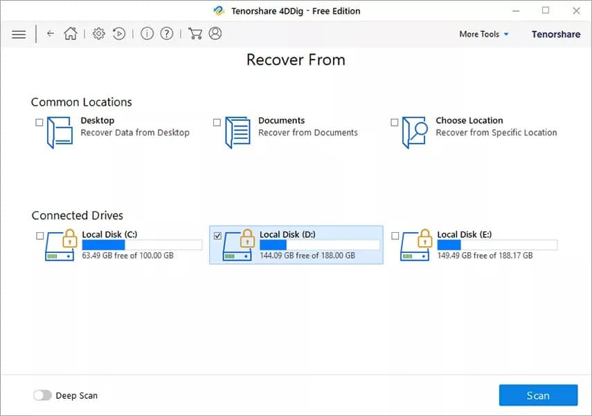 Tenorshare 4DDiG for Windows Data Recovery