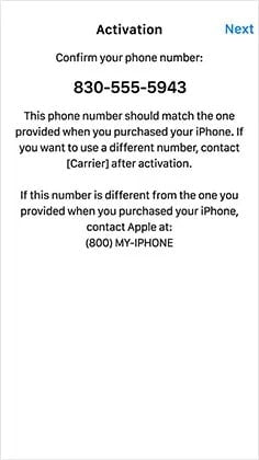 Set the phone number correctly to fix iPhone 12 Stuck on Confirm Your Phone Number