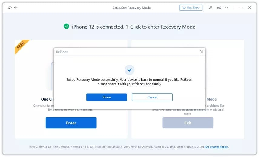 Fix iPhone Stuck on Restore Screen issue  with Reiboot