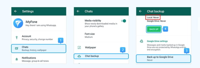 Transfer WhatsApp from Samsung to Huawei Using Local Backup