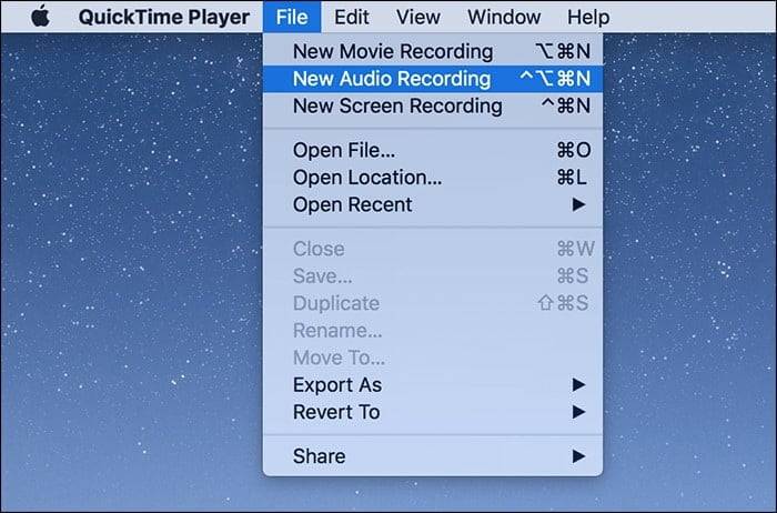 how to record internal audio on Mac Using QuickTime Player