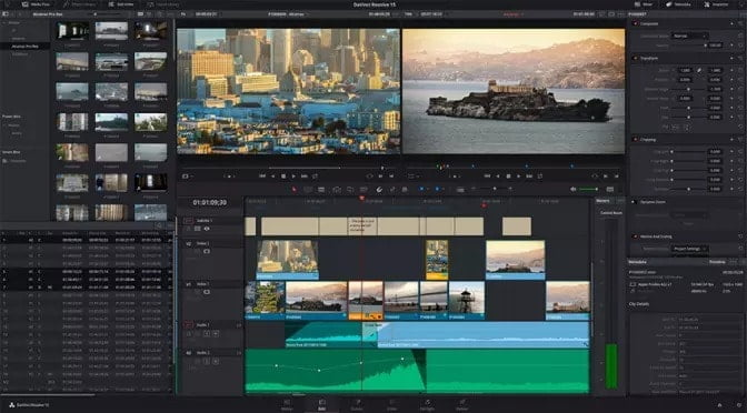 How to put multiple videos on one screen iMovie with Davinci Resolve