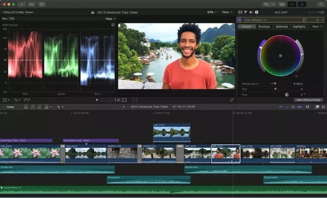 How to put multiple videos on one screen iMovie with FinalCut Pro