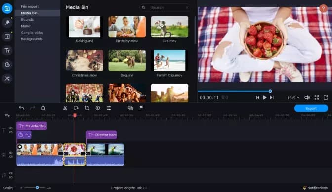 How to put multiple videos on one screen iMovie with Movaiv Video Editor Plus