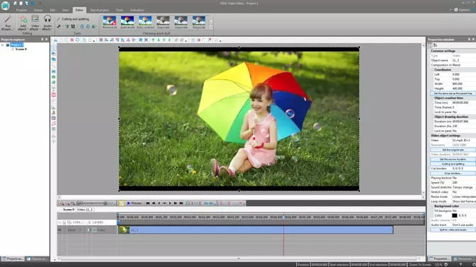 How to put multiple videos on one screen iMovie with VSDC Video Editor