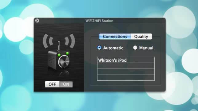 stream audio from PC to iPhone with WiFi2Hifi