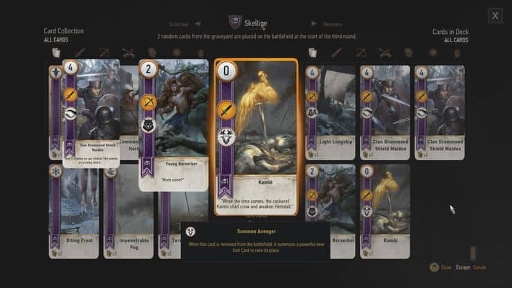 Best Gwent Cards - Kambi