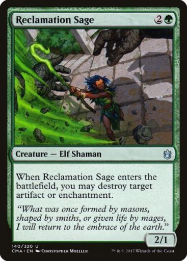Best Green Cards MTG - Reclamation Sage