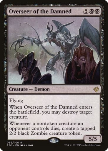 Best MTG Demons - Overseer of the Damned (CMC:7)