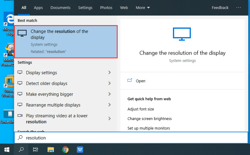 Change Resolution of the display to Fix Screen Tearing