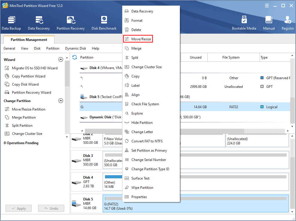 How to manage external hard drive and flash drive with MiniTool Partition Wizard