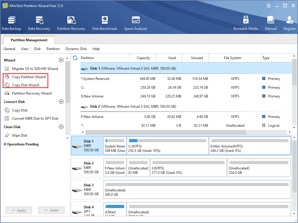 Back up data with HDD