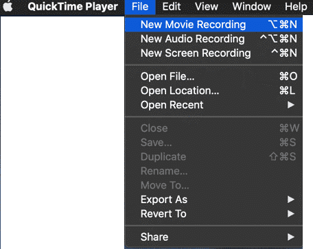 Download Snapchat Stories Using QuickTime Player