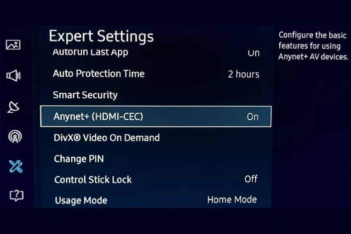 Check CEC and HDMI Settings