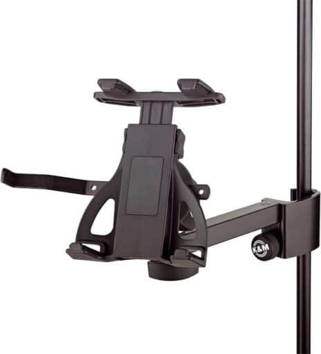 Best iPad Holder for Mic Stand - K&M Tablet Holder for Mic Stand