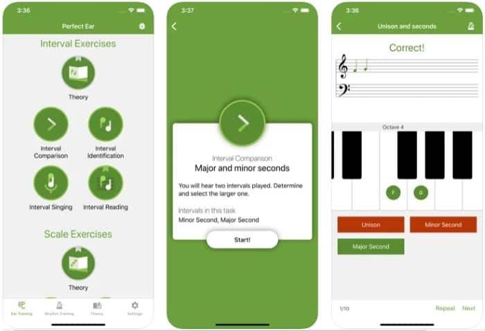 Best Music Theory App - Perfect Ear