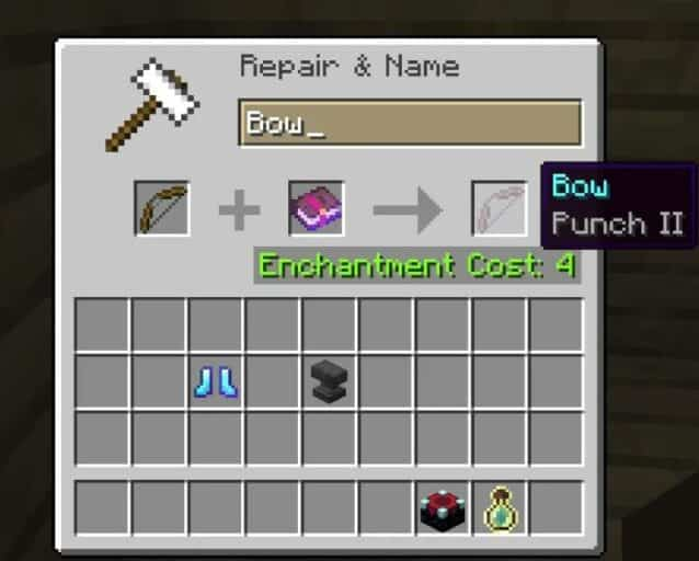 Minecraft Bow Enchantments - Punch